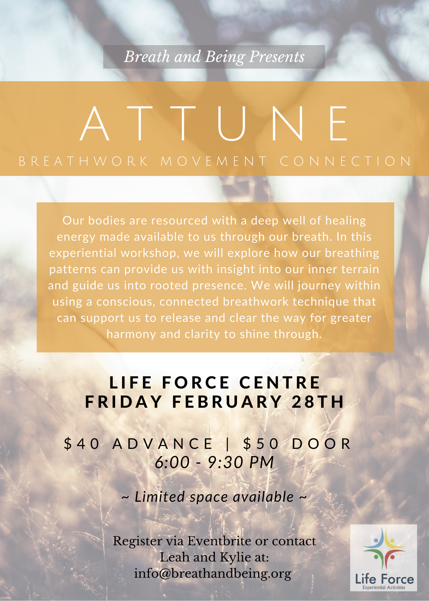 Attune – Feb 28, 2020 – Breath Work Movement Connection